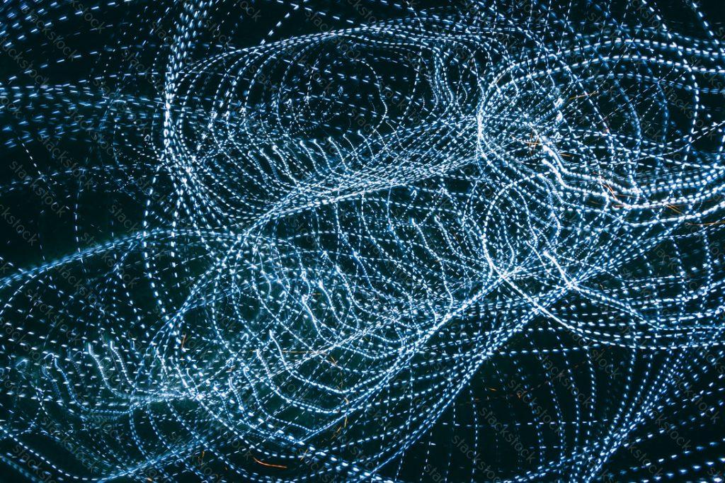 Light beam abstract