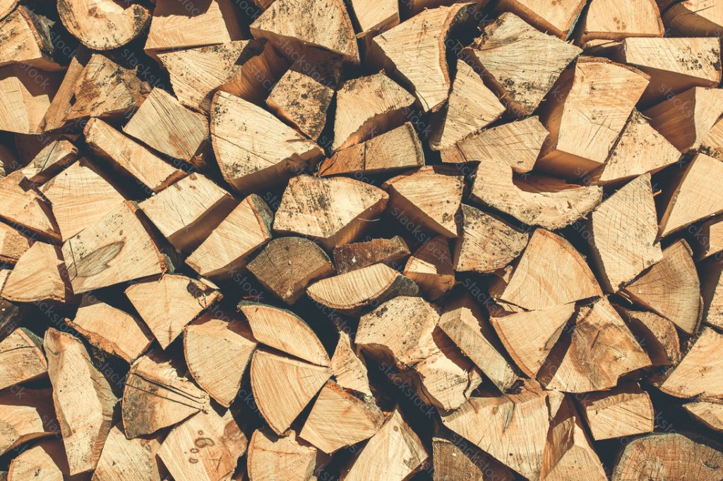 Timber log cut wooden, natural textured background. Logs stacked various sizes pile of firewood