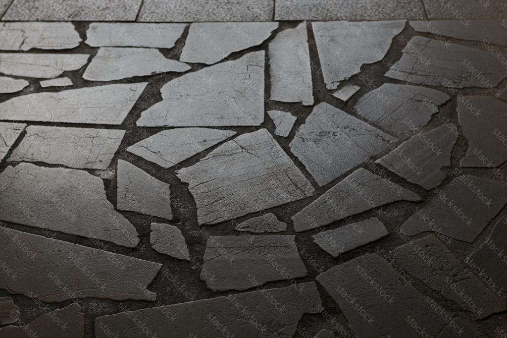 Granite gray pavement