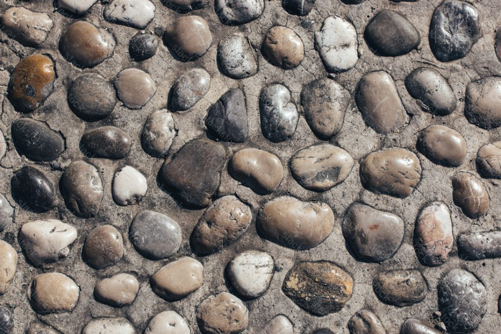Pebble rock background texture