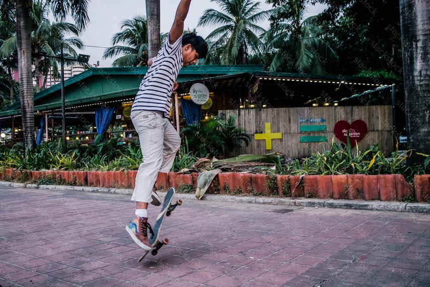 Asian teen skater