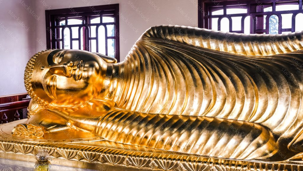 Gold Buddha sleeping