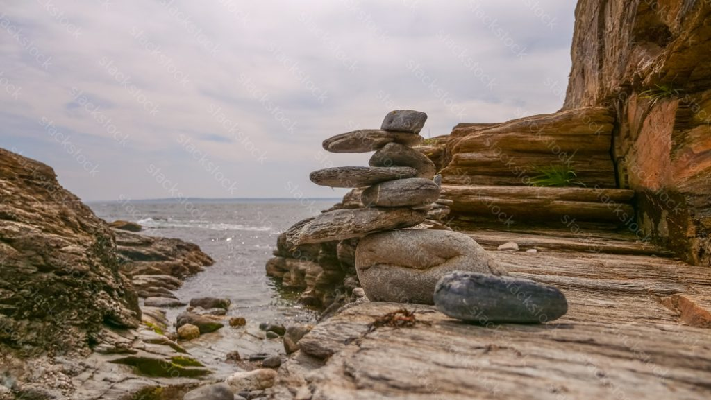 Rocks piled