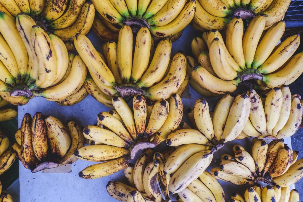 Fresh bananas at the market
