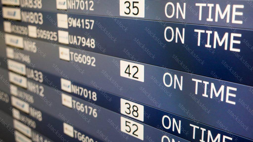 Flight scheduld / Departure times information digital board.