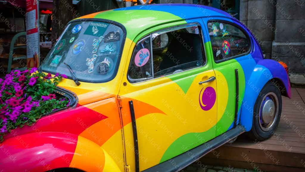 Colorful Beetle car