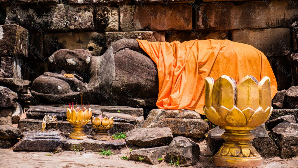 Sleeping Buddha at Angkor Thom. Cambodia
