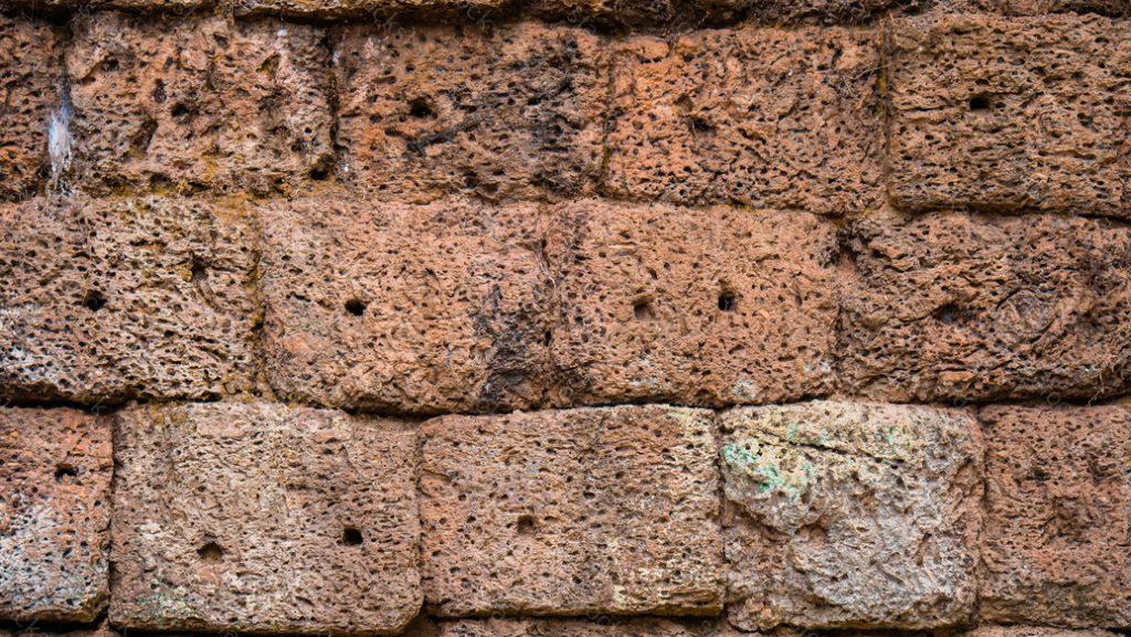 Old brick at Angkor Wat, Cambodia