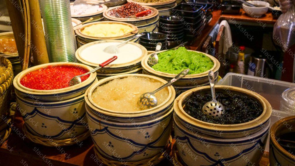 Vietnamese dessert. Saigon. Vietnam