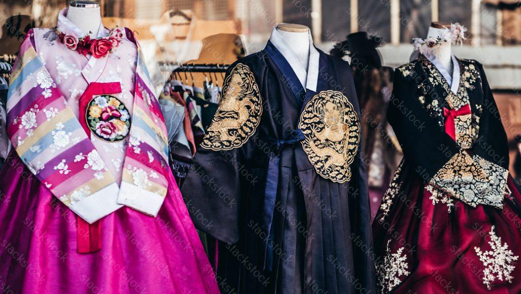 Hanbok Korean traditional clothing. Korea, fashion