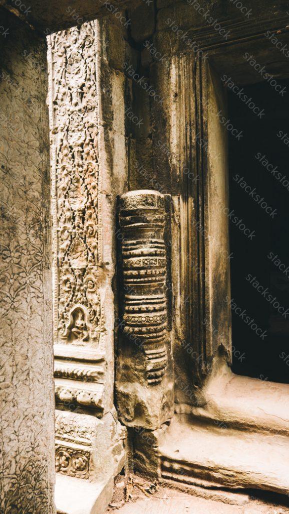 Temple corridor. Angkor Wat. Cambodia
