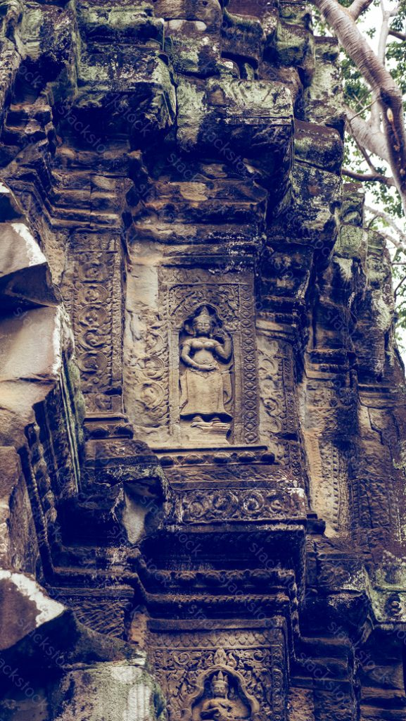 Ancient Stone Carving of Apsara. Cambodia