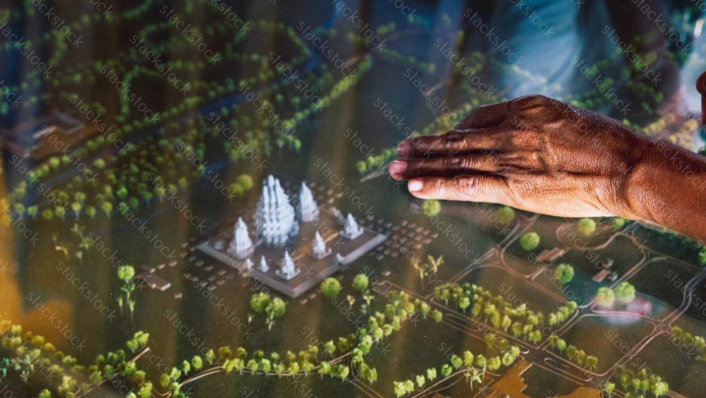 Prambanan Hindu temple model. Yogyakarta, Java, Indonesia