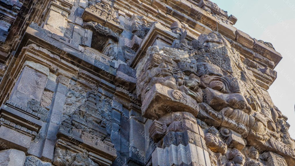 Stone carving of Prambanan Hindu temple, Yogyakarta, Indonesia.