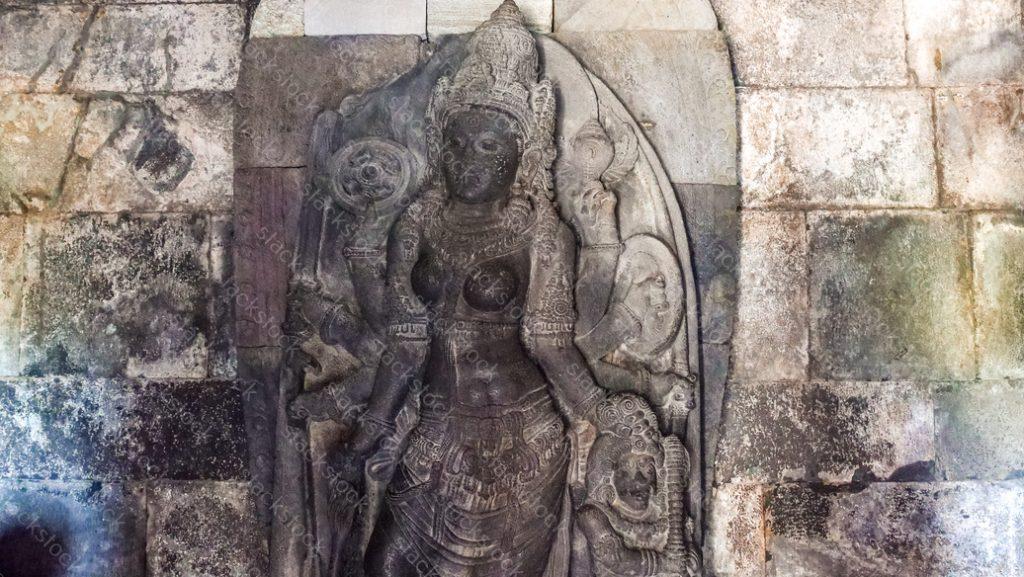Statue at Prambanan Temple Indonesia