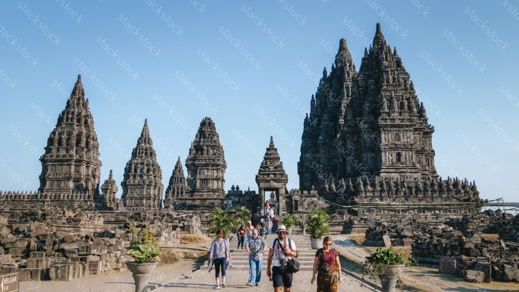 Tourist at Prambanan Temple. Indonesia