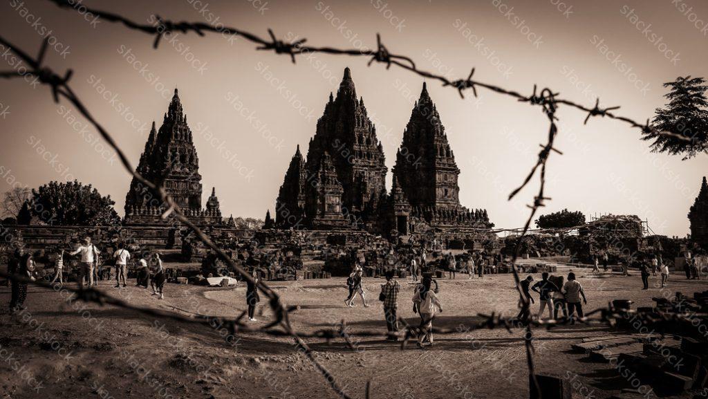 Prambanan temple in region of Jogyakarta, Indonesia